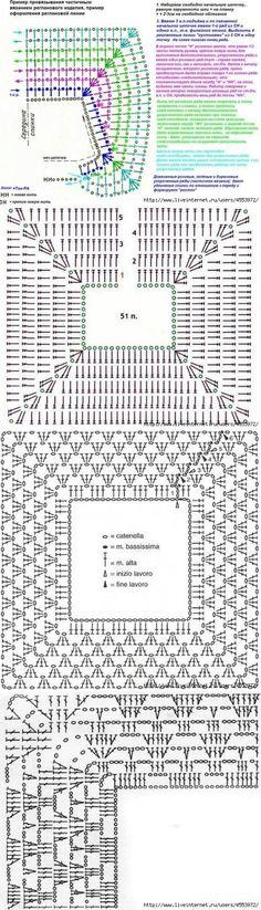 Вязание реглана крючком. Схемы |