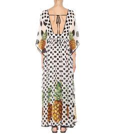 Printed Silk Kaftan Dress | Dolce & Gabbana - mytheresa