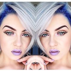 Love the idea of dark dyed roots with light hair!