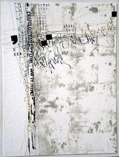 Mixed Media Textile Art, Artist Study with thanks to Textile artist Stéphanie Devaux Textus Textile Fiber Art, Textile Artists, Mix Media, Mixed Media Art, Art Doodle, Writing Art, Black White Art, Letter Art, Calligraphy Art