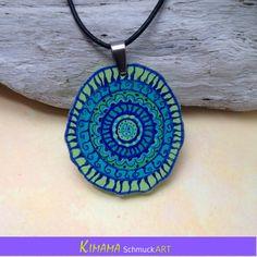 Boho Schmuck Ethno Schmuck Mandala Amulett Mandala von KIMAMAdesign