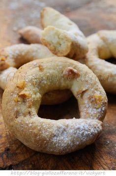 Ciambelline all'arancia e noci ricetta veloce vickyart arte in cucina