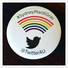 Twitter Australia pin from Sydney Mardi Gras 2016.