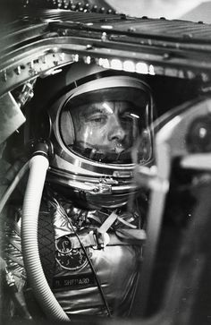 Alan Shepard waits to become the first American in space, Cape Canaveral (1961) Photograph by NASA