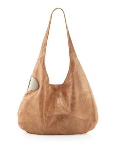 Halston Heritage Medium Leather Hobo Bag 51a26196a50b9