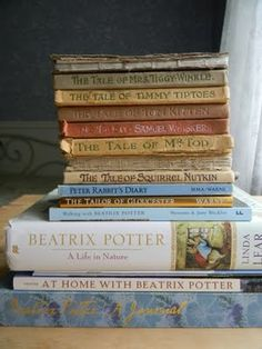 some of my Beatrix Potter books.