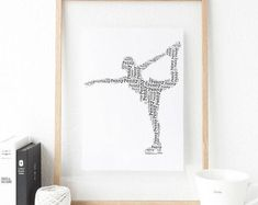 Personalised Gifts Ideas : Figure Skating Print Personalised Print Figure Skating Gift Gift for Figur Handmade Shop, Etsy Handmade, Handmade Gifts, Kids Room Organization, Shadow Box Frames, Gifts For Brother, Fathers Day Cards, Personalised Gifts, Inspirational Gifts