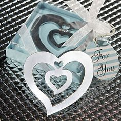 Heart Bookmark Wedding Favors