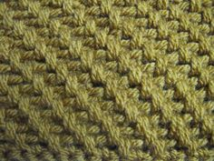 Mesh stitch crochet pattern--tutorial