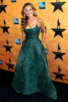 Sarah Jessica Parker looked gorgeous in a green Elie Saab Haute Couture gown...OMG beautiful...Change the color to fit your wedding theme.Get that designer look by having it custom-made.