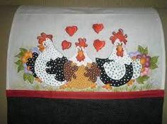 Image result for pinturas em tecidos para jogo de cozinha