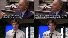 Creed, Jim Halpert Jim Halpert, Office Quotes, Paper People, That's What She Said, Dunder Mifflin, Laughing And Crying, 1 Live, Great Tv Shows, The Office