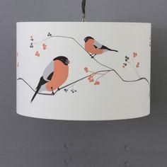 bullfinch lampshade by lorna syson   notonthehighstreet.com