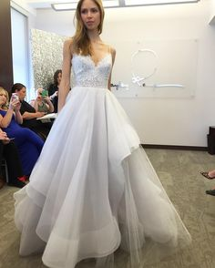 New York Bridal Fashion Week Show fall 2016 new collection wedding dress designer bridal gown catwalk runway instagram hayley paige v neck lace bodies