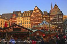 Stock photo of Christmas markets carousel at Romerplatz Frankfurt Hessen Germany  Where some of my family is from.... waaaaaaaaaaaaaaay back....