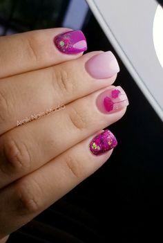 Beautiful Ts Nail Salon – Nail Collections Love Nails, Pink Nails, Pretty Nails, My Nails, Glitter Nails, Cute Acrylic Nails, Acrylic Nail Designs, Nails Short, Pretty Nail Designs