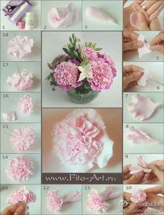El hada de los cuentos: Tutoriales para hacer flores con fimo, porcelana f...