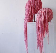 We carry Amaranthus in white,pink,purple & red! Make gorgeous pieces with these hanging faux decor!  Visit us on Etsy to place an order! Faux Flowers, Dried Flowers, Lotus Tea, Wedding Planner Italy, Amaranthus, Pink Home Decor, Color Harmony, Planting Flowers, Floral Arrangements