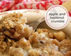 This apple and hazelnut crumble has all the comfort of apple crumble with roasted hazelnuts for added decadence. It's really easy to make and is the perfect pudding.