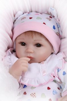 66.59$  Buy now - http://ali6sm.worldwells.pw/go.php?t=32637202787 - 18Inches 45CM Lifelike Silicone Baby Reborn Doll Toys Brand Best Gift For Kids Girls Soft Cloth Body Bebe Princess Toys Benecas