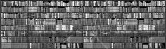 Bookshelf - Grayscale - Wall Mural & Photo Wallpaper - Photowall