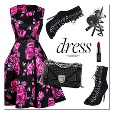 """""""Flral Dress"""" by oshint ❤ liked on Polyvore featuring NYX"""