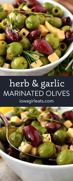 Gluten Free Appetizers, Easy Appetizer Recipes, Appetizers For Party, Easy Dinner Recipes, Easy Recipes, Marinated Olives, Savory Snacks, Fresh Herbs, Side Dish Recipes