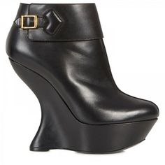 b2df68389464 Sculptured Wedge Leather Boots - Lyst Walk This Way