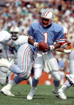 fda33bb3f Houston Oilers quarterback Warren Moon (1986) Houston Texans Football