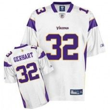Vikings  32 Toby Gerhart White Stitched NFL Jersey Sidney Rice 749fac14549