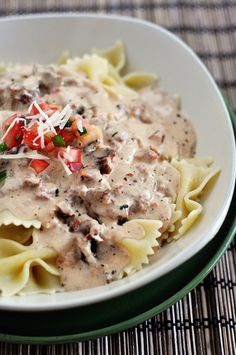 Mel's Kitchen Cafe | Creamy Tuscan Pasta Sauce- So easy. So yummy! If you don't want to eat a lot of pasta, try it over spinach! -Alexis