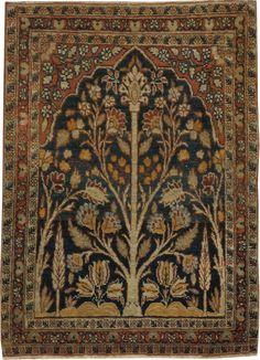 Antique Tabriz Hagi Jalili Rug, No.17058 - Galerie Shabab