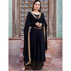 Black heavy rayon golden zari weaving work plazzo suit Lehenga Anarkali, Floral Lehenga, Banarasi Lehenga, Indian Anarkali, Pakistani Salwar Kameez, Pakistani Suits, Pakistani Dresses, Kurti, Churidar