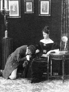 Tsarevich Nicholas Alexandrovich, future Russian Tsar, with Grand Duchess Elizabeth Feodorovna, performing Eugene Onegin by Alexander Pushkin in winter 1890