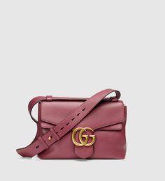 acdc3e4a5f7 Gucci - gg marmont leather shoulder bag 401173A7M0T6437 Leder