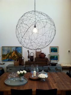 Tutorial to Make a Wire Globe Chandelier