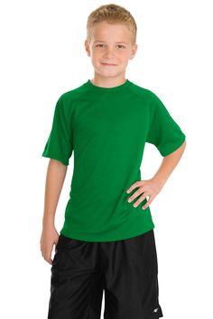 Sport-Tek Youth Dry Zone Raglan T-Shirt Y473 Kelly Green