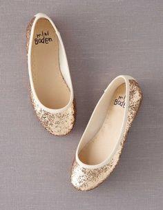 BodenClothing Glitter Ballet Flats