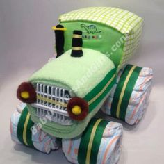 Tractor Diaper Cake So cute!