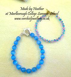 Made by Heather at Marlborough College Summer School, Jewellery Making for Beginners 2015. www.verchieljewellery.co.uk
