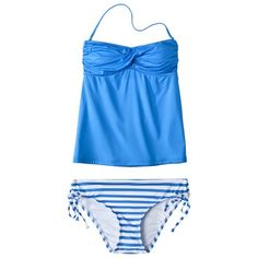Mossimo® Womens Mix & Match 2-Piece Tankini Swimsuit - Blue