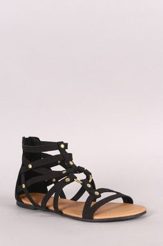Best Selling Strappy Sandal. Black Gladiator SandalsFlat ... 7b80f0108c15