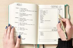 The Best Notebooks for Bullet Journaling and Getting Your Meal Plan and Grocery Budget in Order — Shopping
