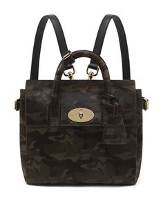 Pin for Later: Cara Delevingne's Chic Mulberry Bags Can Now Be Yours  Mini khaki camouflage haircalf bag (£1,800)