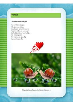 Versje: Twee kleine slakjes Diy And Crafts, Autumn, Snails, History, School, Kids, Yoga For Kids, Hand Spinning, Children