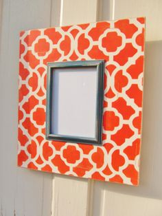 Distressed 5x7 Frame in Coral White and Navy by AmberLaneFrames