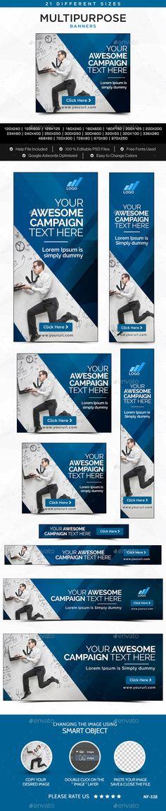 Multipurpose Banners Template #design Download: http://graphicriver.net/item/multipurpose-banners/12225035?ref=ksioks