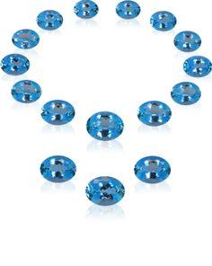 HENN GEMS - Schätze - Aquamarinsuite für Collier, Ohrringe, Ring über 150 ct, Antikschliff, Mosambik