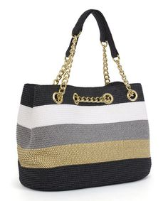 Another great find on #zulily! Black & Toast Chain Shoulder Bag #zulilyfinds