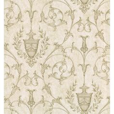 Brewster Taupe Scrolling Urn Wallpaper   Overstock.com Shopping - Top Rated Brewster Wallpaper
